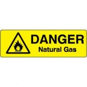 Markers safety sign - Natural Gas 011
